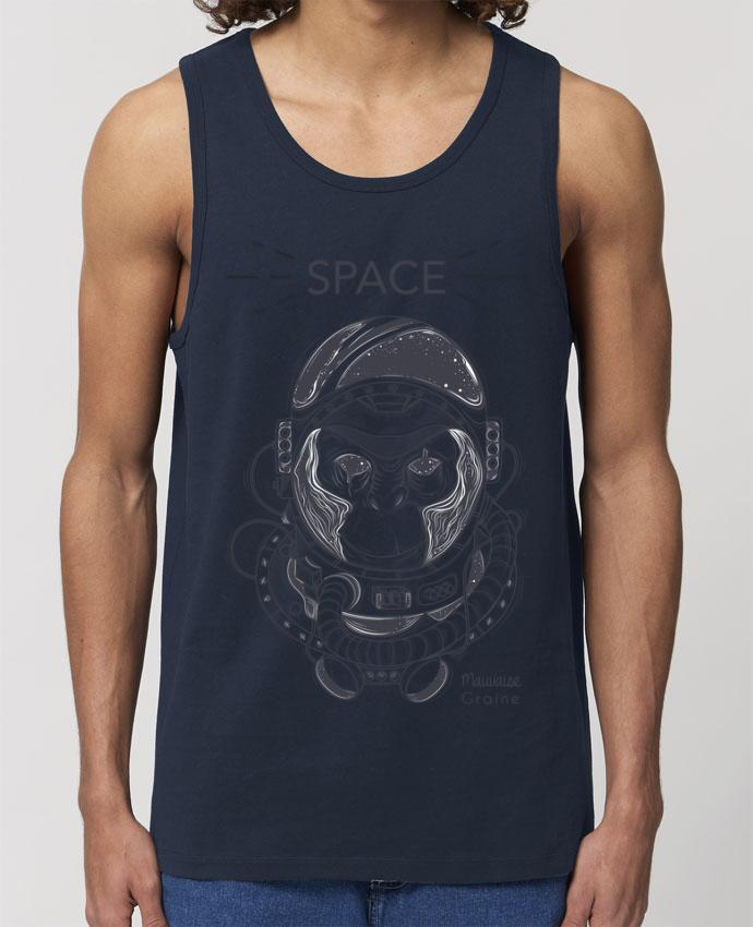 Débardeur Homme Monkey space Par Mauvaise Graine