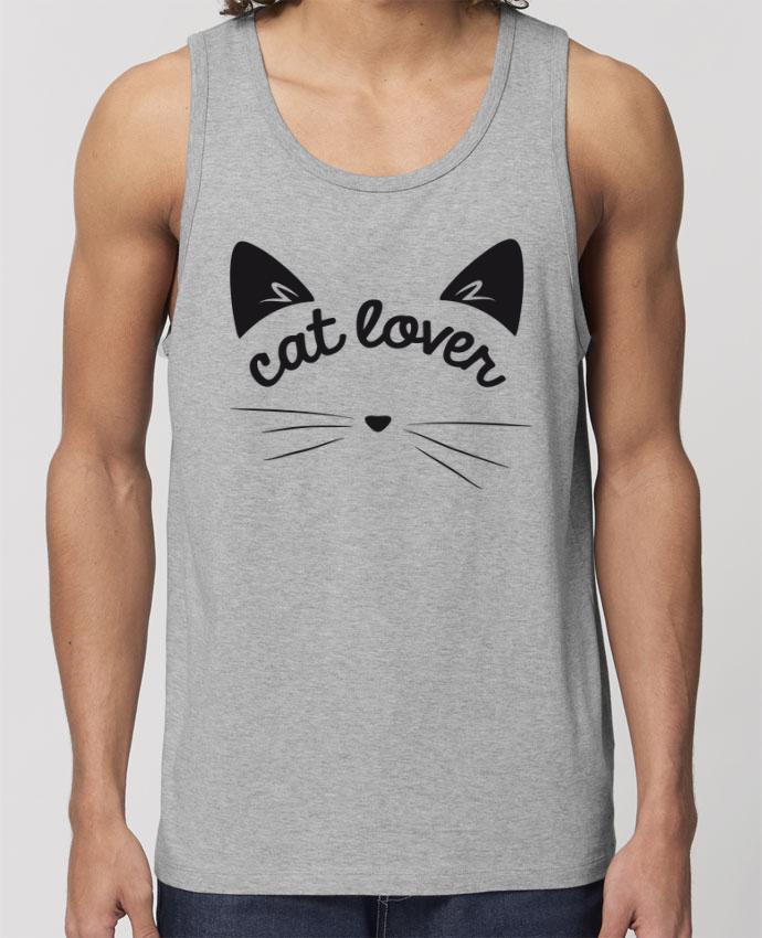 Débardeur Homme Cat lover Par FRENCHUP-MAYO