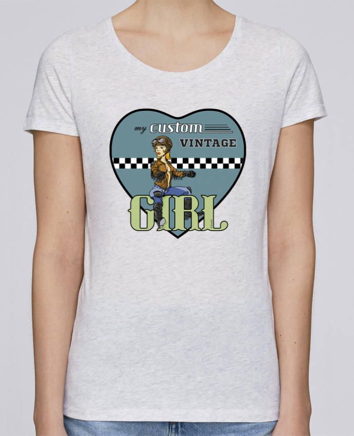 T-shirt Femme Stella Loves My custom vintage girl par BRUZEFH