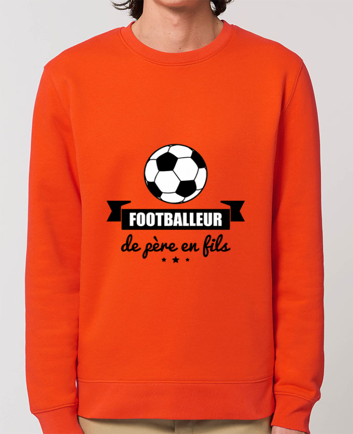 Sweat-shirt Footballeur de père en fils, foot, football Par Benichan