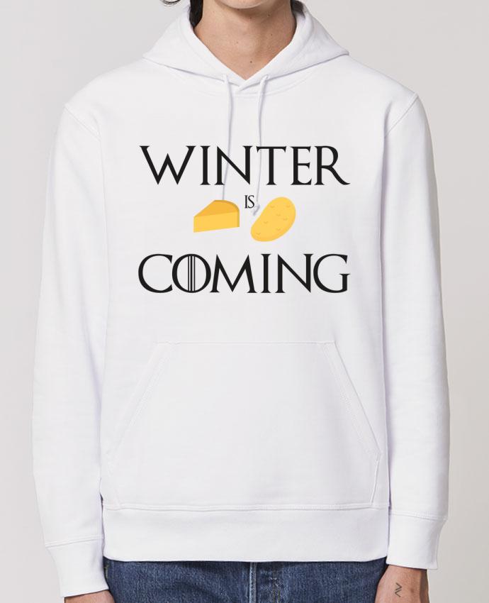 Sweat-Shirt Capuche Essentiel - Unisexe Drummer Winter is coming Par Ruuud