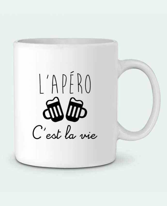 Mug en Céramique L'apéro c'est la vie , humour , alcool , drôle par Benichan