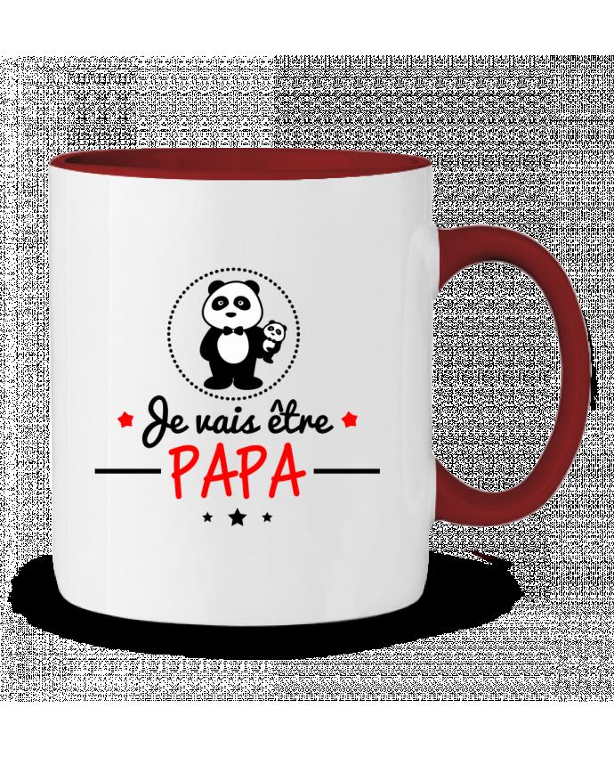 Mug en Céramique Bicolore Bientôt papa , Futur père Benichan
