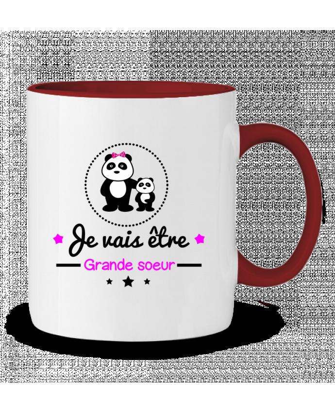 Mug en Céramique Bicolore Bientôt grande soeur - Future grande soeur Benichan