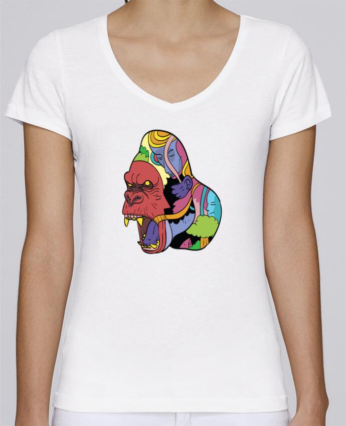 T-shirt Femme Col V Stella Chooses wrathofnature par Arya Mularama