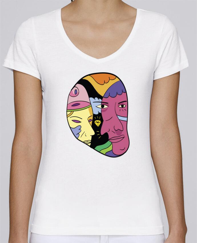 T-shirt Femme Col V Stella Chooses destroyer par Arya Mularama