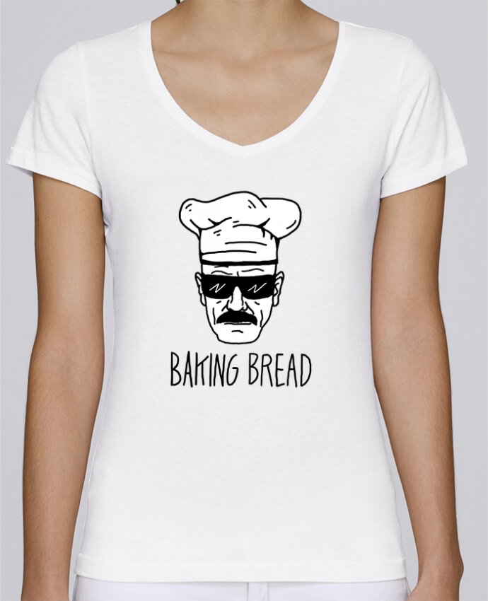 T-shirt Femme Col V Stella Chooses Baking bread par Nick cocozza