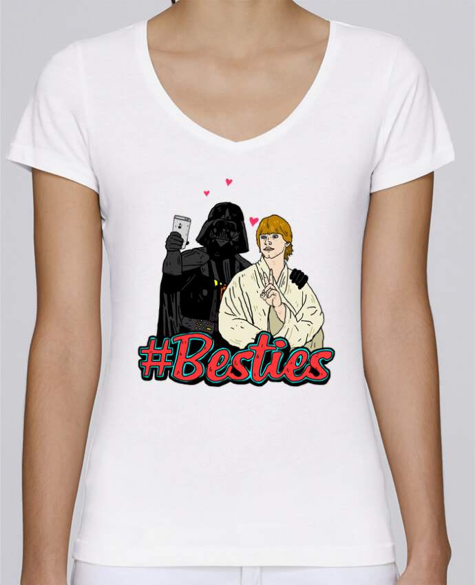 T-shirt Femme Col V Stella Chooses #Besties Star Wars par Nick cocozza