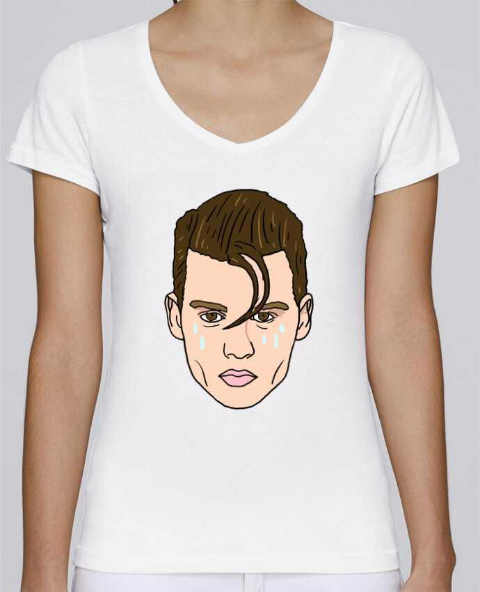 T-shirt Femme Col V Stella Chooses Cry baby par Nick cocozza