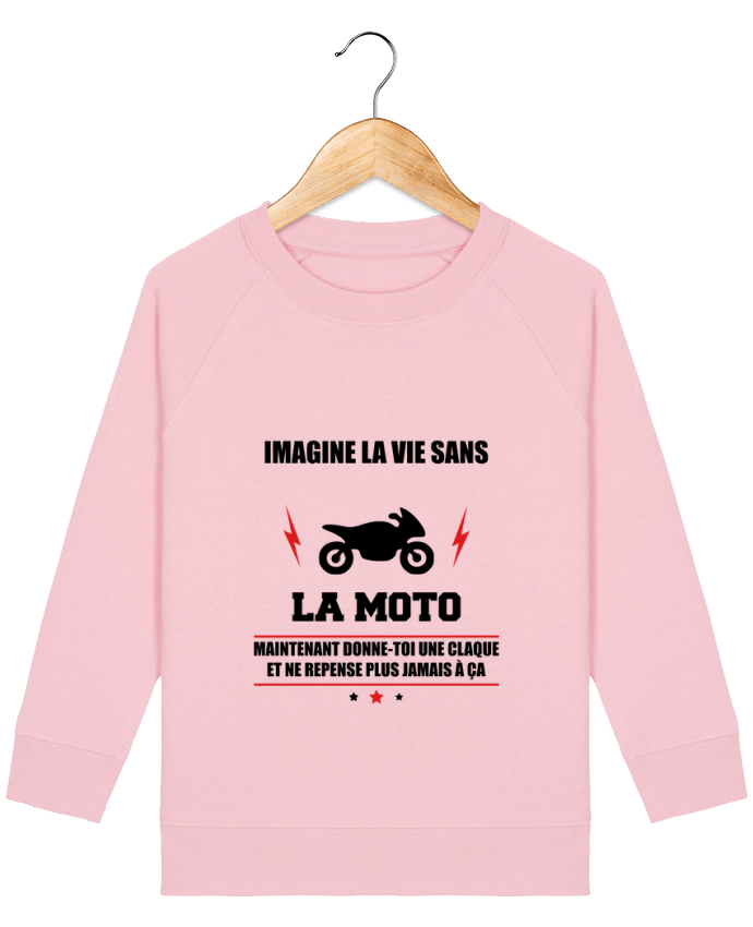 Sweat-shirt enfant Imagine la vie sans la moto Par  Benichan