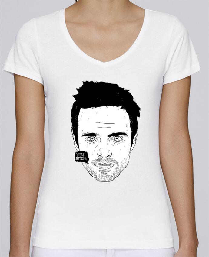 T-shirt Femme Col V Stella Chooses Jesse Pinkman par Nick cocozza
