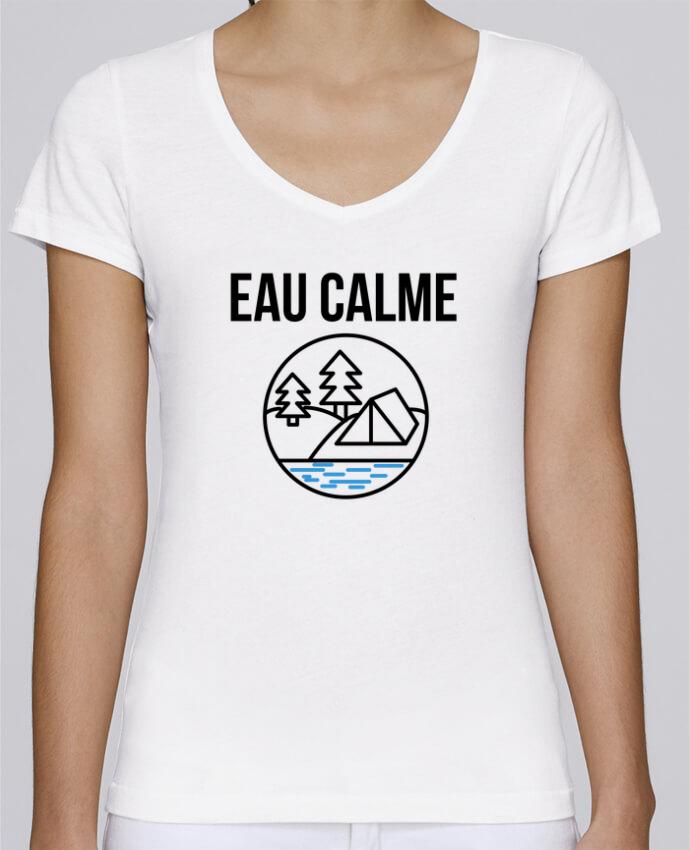 T-shirt Femme Col V Stella Chooses eau calme par Ruuud