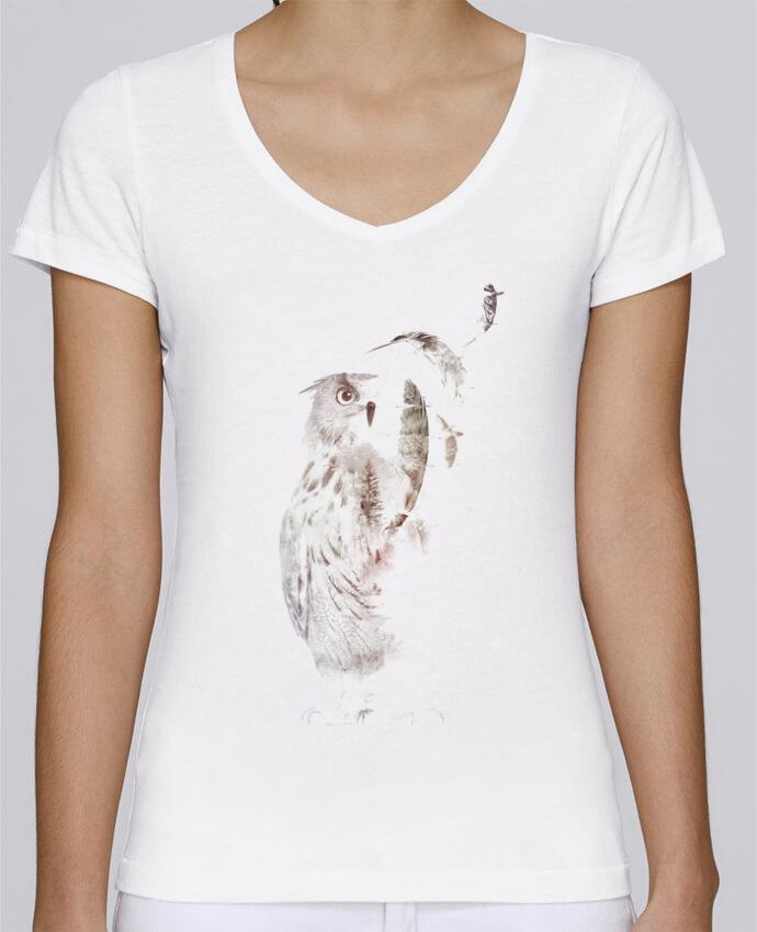 T-shirt Femme Col V Stella Chooses Fade out par robertfarkas