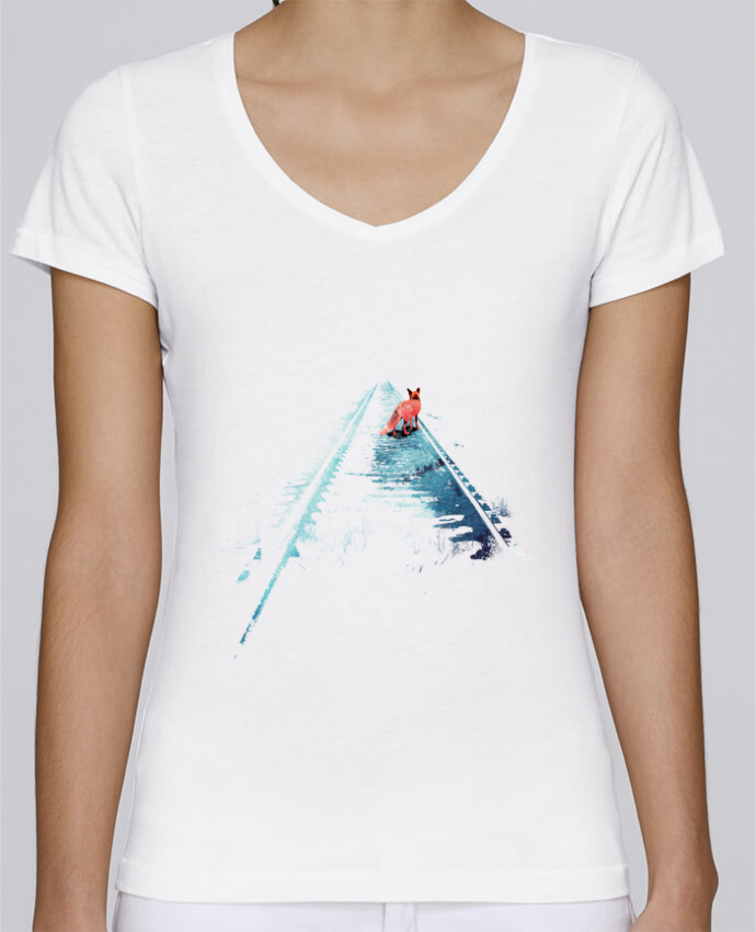 T-shirt Femme Col V Stella Chooses From nowhere to nowhere par robertfarkas