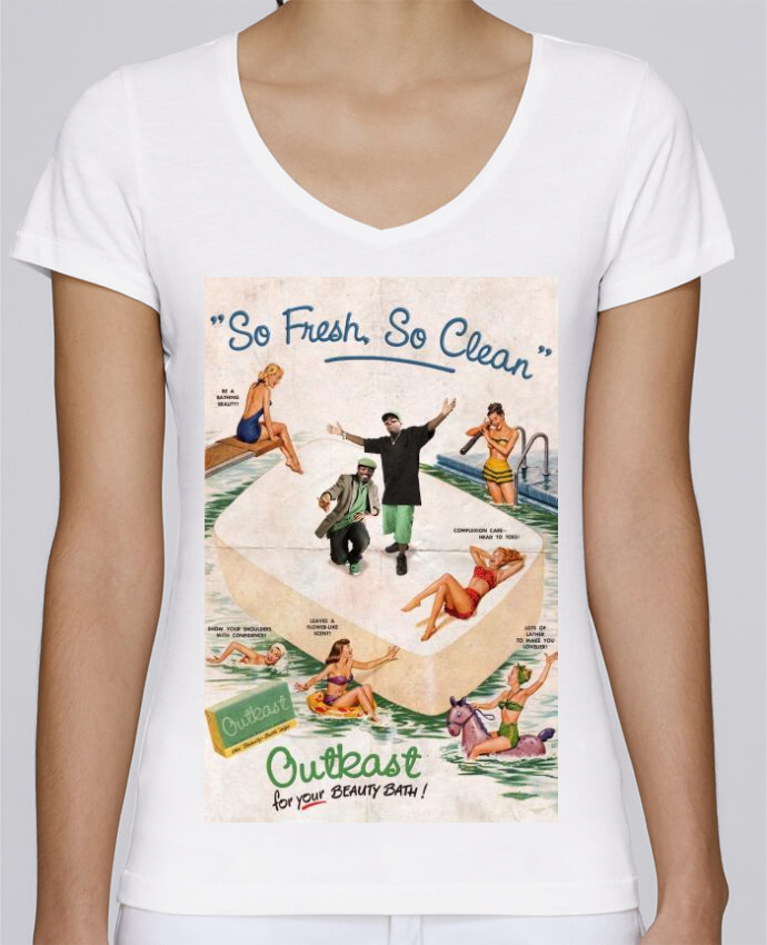 T-shirt Femme Col V Stella Chooses So Fresh So Clean par Ads Libitum