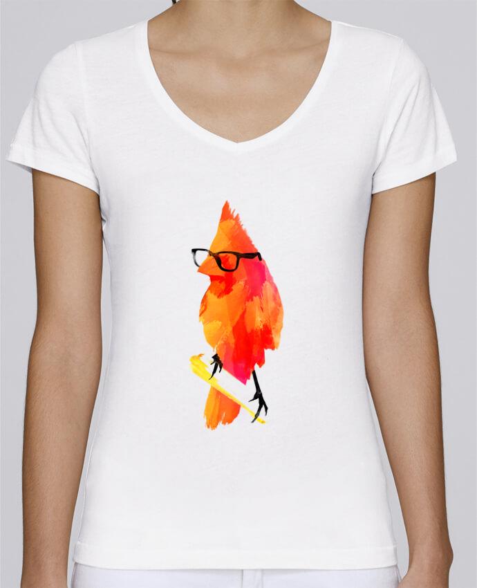 T-shirt Femme Col V Stella Chooses Punk bird par robertfarkas