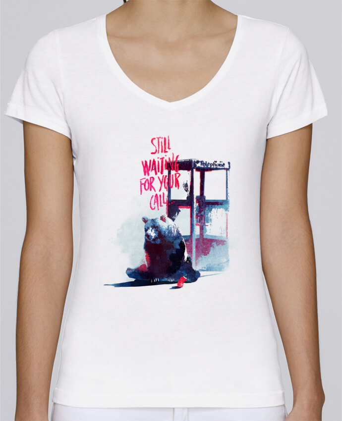T-shirt Femme Col V Stella Chooses Still waiting for your call par robertfarkas