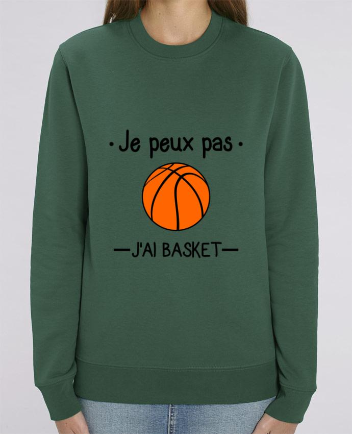 Sweat-shirt Je peux pas j'ai basket,basketball,basket-ball Par Benichan