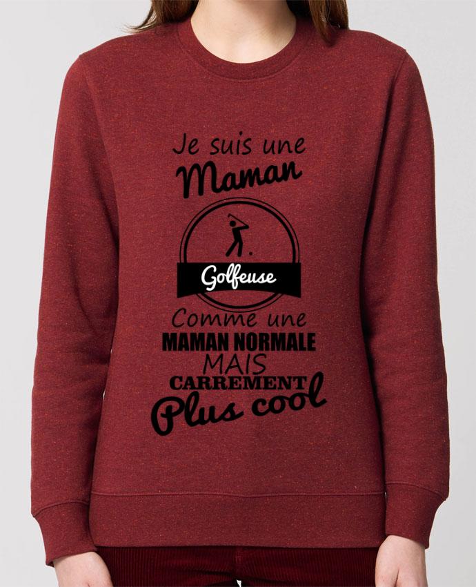 Sweat-shirt Je suis une maman golfeuse comme une maman normale mais carrément plus cool Par Benichan