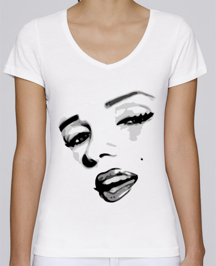 T-shirt Femme Col V Stella Chooses Classic Pinup Art par GeeK My Shirt
