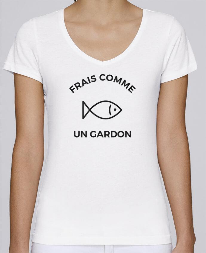 T-shirt Femme Col V Stella Chooses Frais comme un gardon par Ruuud