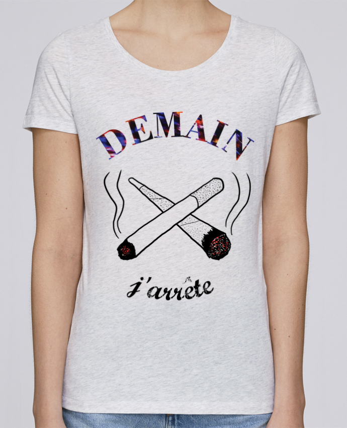 T-shirt Femme Stella Loves Demain j'arrête de fumer par Promis
