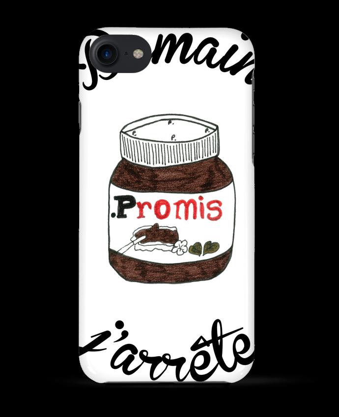 Coque 3D Iphone 7 Demain j'arrête le Nutella de Promis