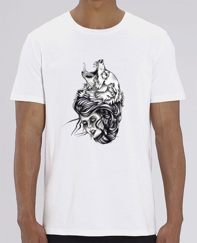T-Shirt Femme & Loup par david