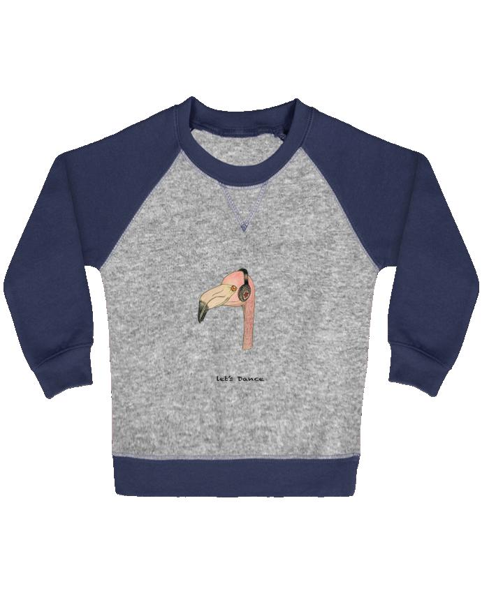 Sweat Shirt Bébé Col Rond Manches Raglan Contrastées Flamingo LET'S DANCE by La Paloma par La Paloma