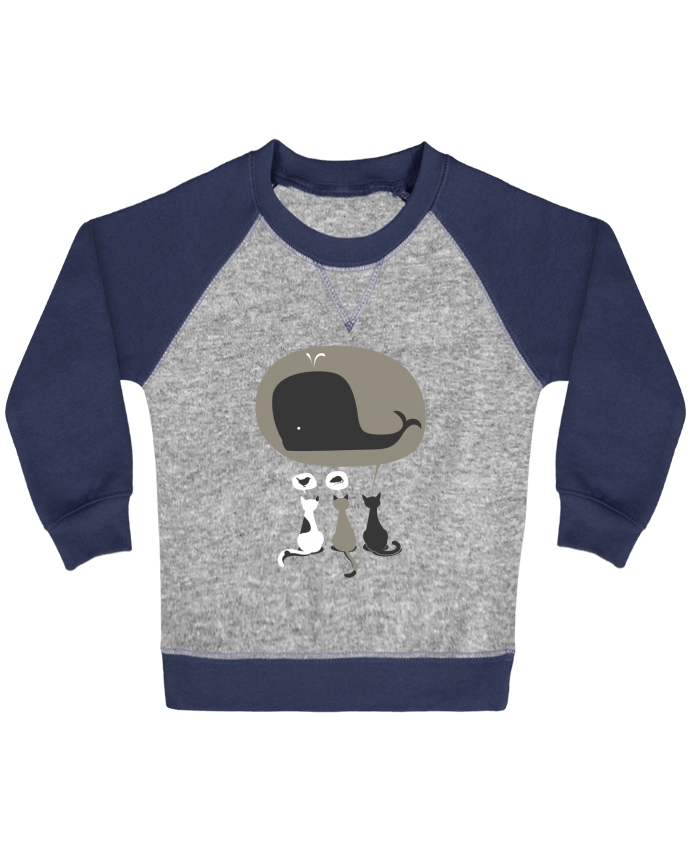 Sweat Shirt Bébé Col Rond Manches Raglan Contrastées Dream Big par flyingmouse365
