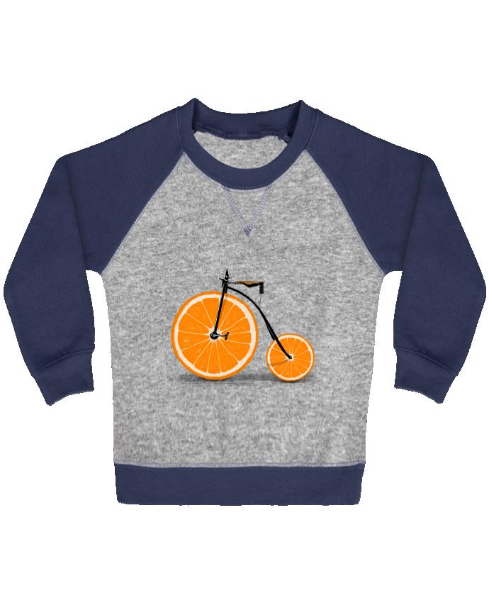 Sweat Shirt Bébé Col Rond Manches Raglan Contrastées Vitamin par Florent Bodart