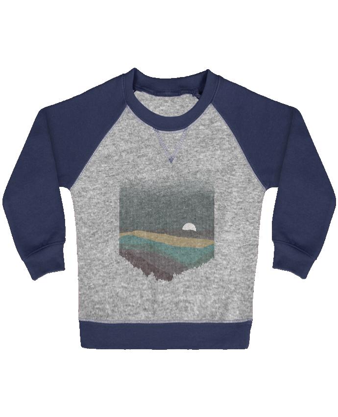 Sweat Shirt Bébé Col Rond Manches Raglan Contrastées Moonrise Color par Florent Bodart
