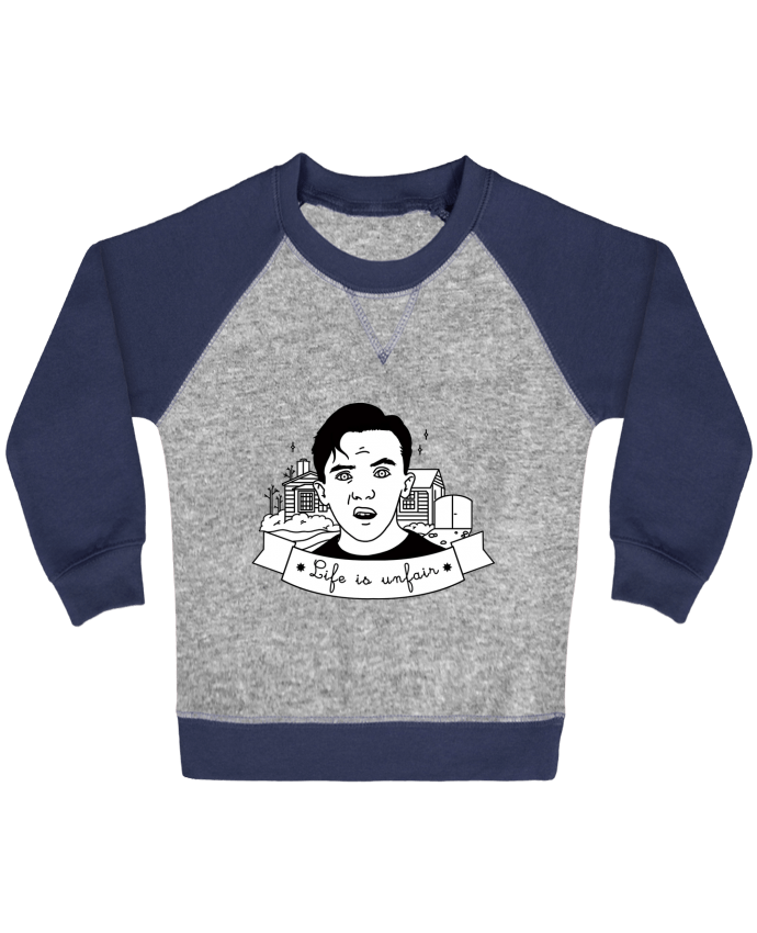 Sweat Shirt Bébé Col Rond Manches Raglan Contrastées Malcolm in the middle par tattooanshort