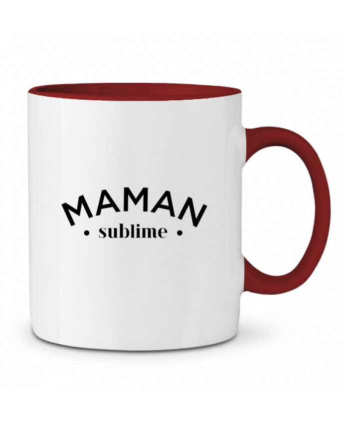Mug en Céramique Bicolore Maman sublime tunetoo