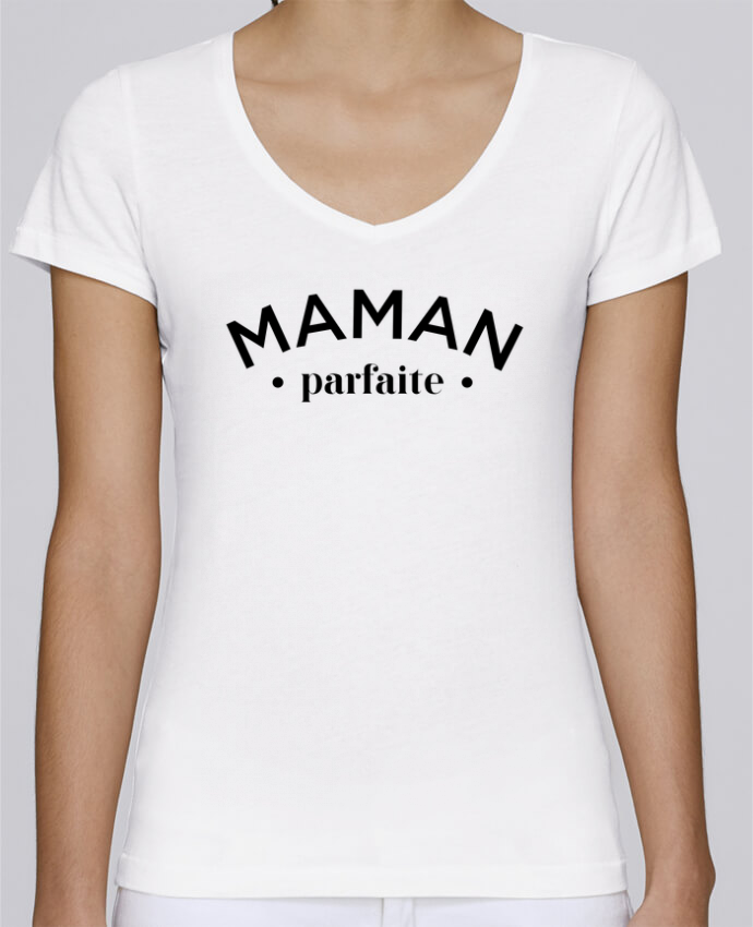 T-shirt Femme Col V Stella Chooses Maman parfaite par tunetoo