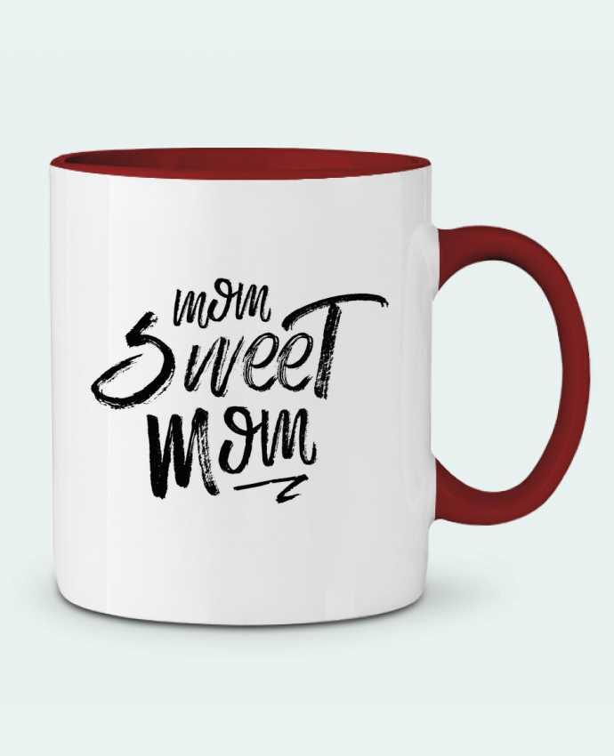 Mug en Céramique Bicolore Mom sweet mom tunetoo
