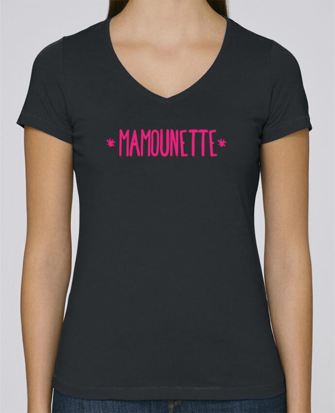 T-shirt Femme Col V Stella Chooses Mamounette par tunetoo