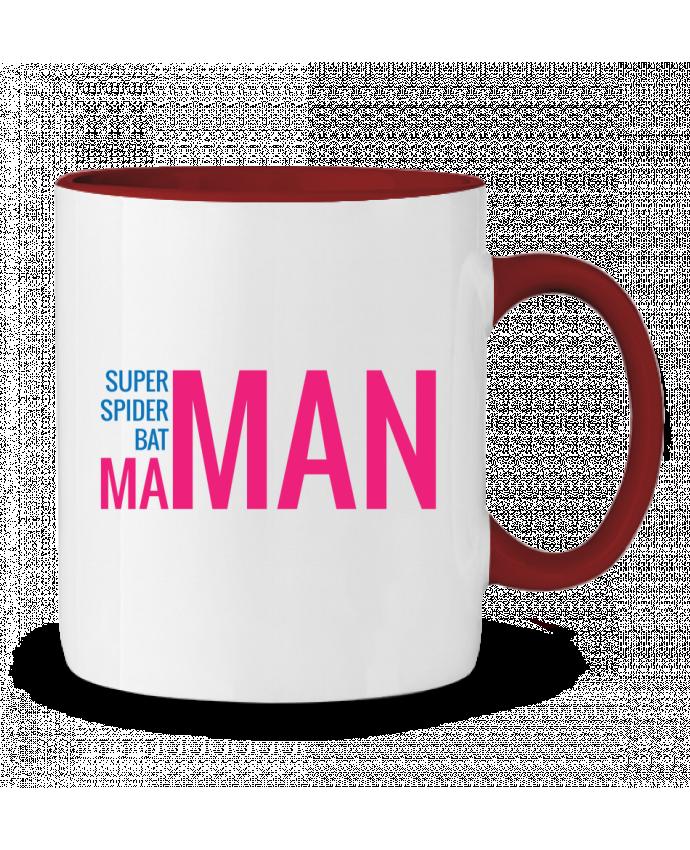 Mug en Céramique Bicolore superMAMAN tunetoo