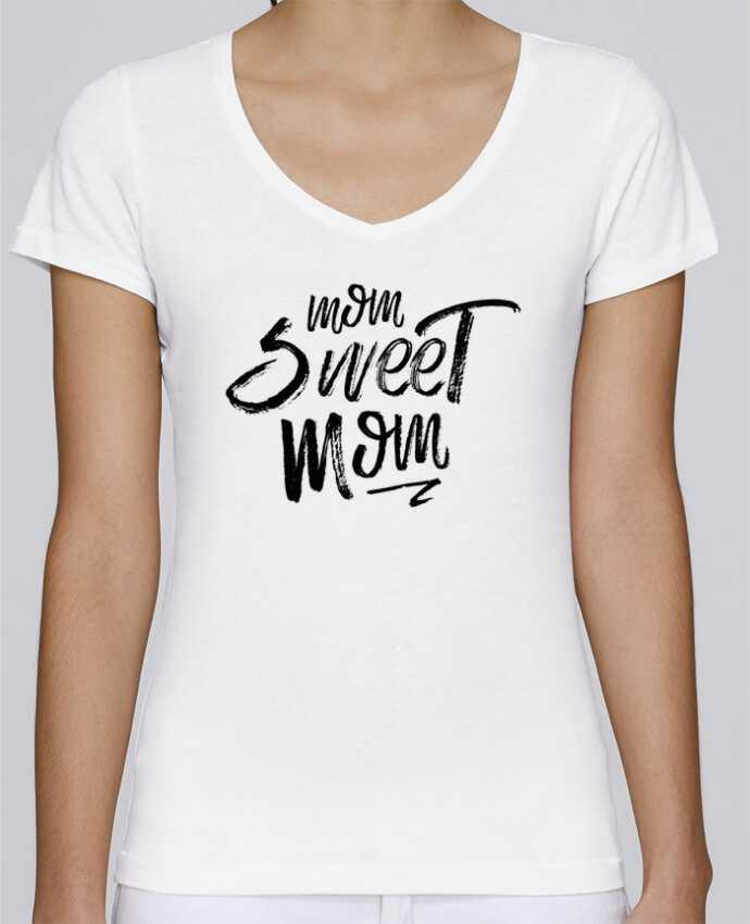T-shirt Femme Col V Stella Chooses Mom sweet mom par tunetoo